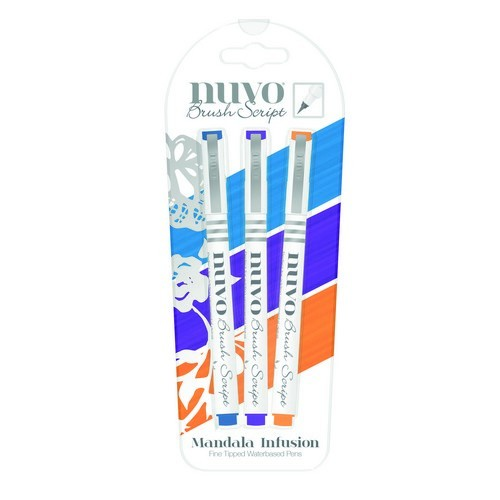 Nuvo - Fine Tipped Waterbased Pens: Mandala Infusion