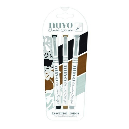 Nuvo - Fine Tipped Waterbased Pens: Essential Tones