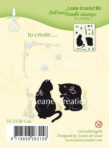 Leane Creatief - Clearstamp - Cats - 55.3158