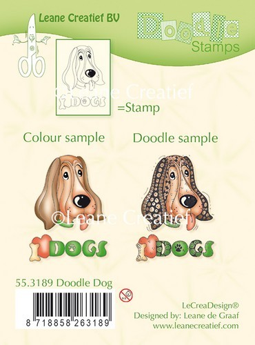 Leane Creatief - Clearstamp - Doodle - Dog - 55.3189