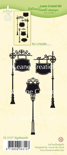 Leane Creatief - Clearstamp - Signboards - 55.3127