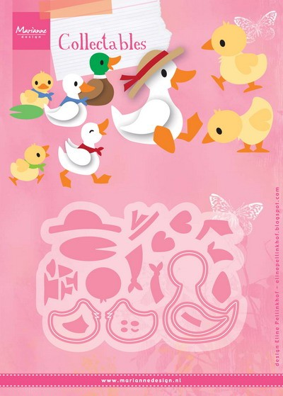 Marianne Design - Die - Collectables - Eline`s duck family - COL1428