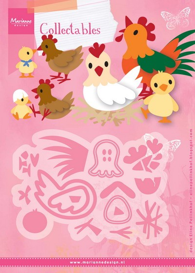 Marianne Design - Die - Collectables - Eline`s chicken family - COL1429