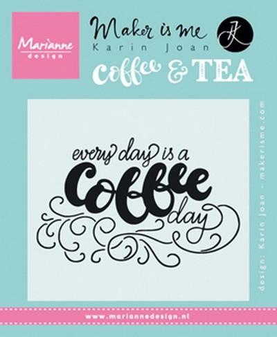 Marianne Design - Karin Joan - Clearstamp - Every day is a coffee day - KJ1708