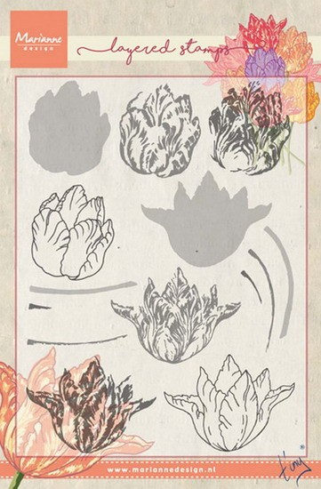 Marianne Design - Tiny`s - Clearstamp - Tiny`s Tulip (layering) - TC0852