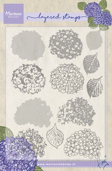 Marianne Design - Tiny`s - Clearstamp - Tiny`s hydrangea (layering) - TC0854
