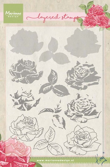 Marianne Design - Tiny`s - Clearstamp - Tiny`s rose (layering) - TC0855