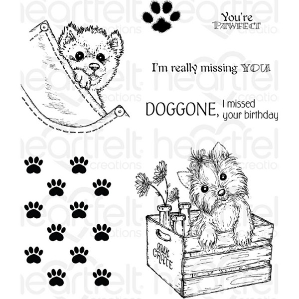 Heartfelt Creations - Cling Stamp - You`re Paw-fect - HCPC3761