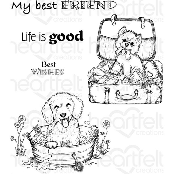 Heartfelt Creations - Cling Stamp - Pampered Pooch - HCPC3762