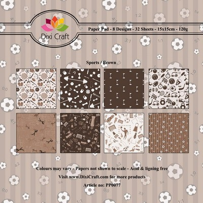 Dixi Craft - Paperpack - Sports: Brown - PP0077