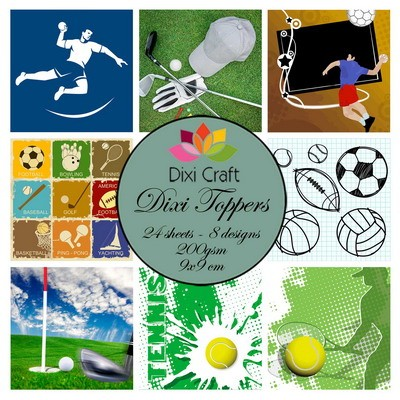 Dixi Craft - Paperpack - Toppers - 9 x 9cm - Sports 2