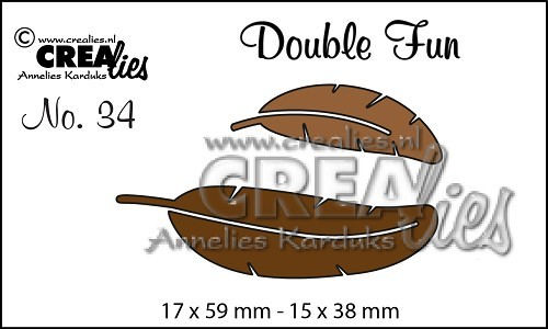 Crealies - Die - Double Fun - No. 34