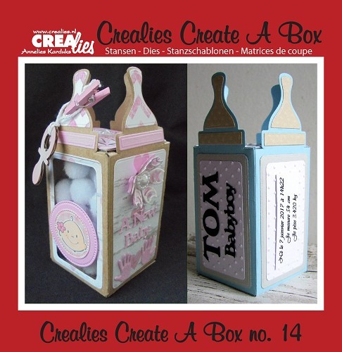 Crealies - Die - Create-A-Box - Babybottle - CCAB14