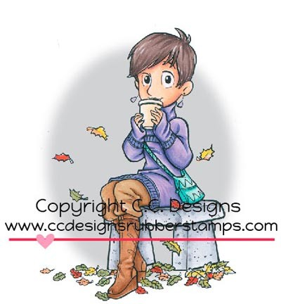 C.C. Designs - Cling stamp - Roberto`s Rascals - Latte Sue - RB1056