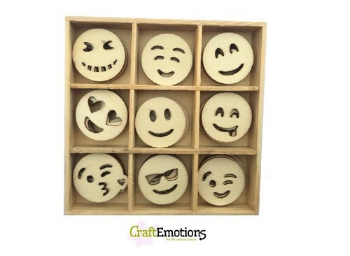 CraftEmotions - Wooden Ornaments - Emoticons - 811500/0223