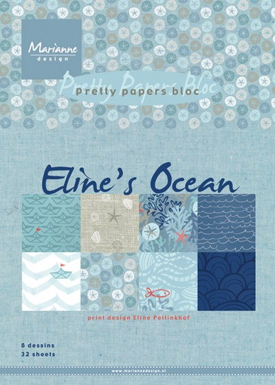Marianne Design - Paperpack - Pretty Papers - Eline`s ocean - PB7052