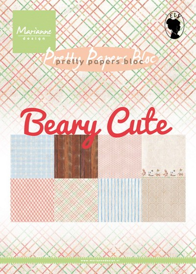 Marianne Design - Paperpack - Pretty Papers - Beary cute - PK9145