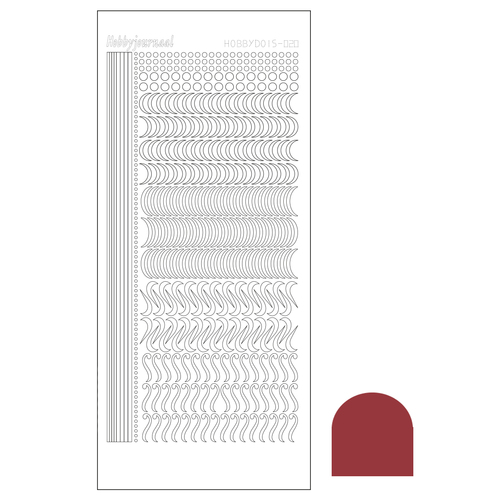 Hobbyjournaal - Stickervel - Hobbydots - Serie 20: Mirror Christmas Red - STDM20H