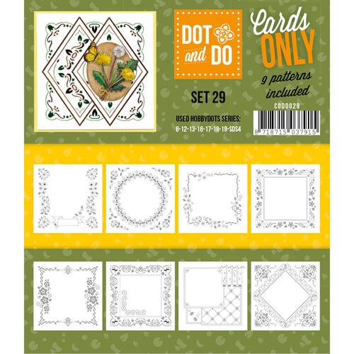 Card Deco - Oplegkaarten - Dot & Do - Cards Only - Set 29 - CODO029