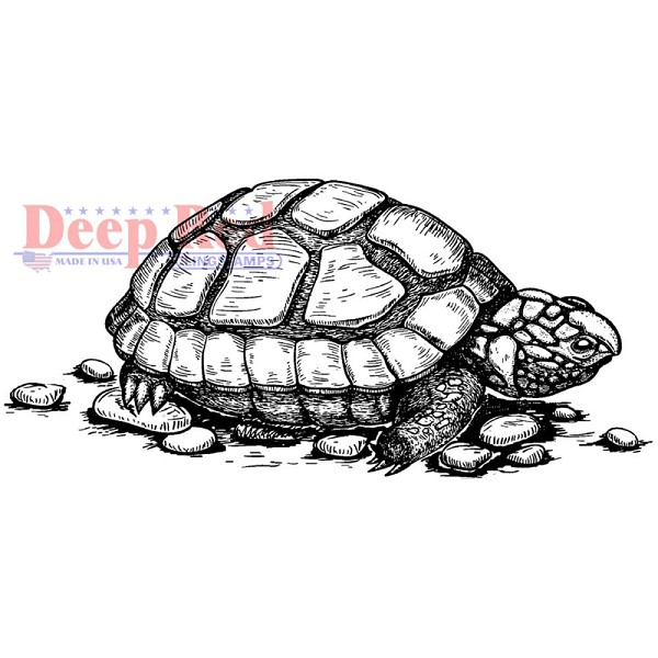 Deep Red - Cling Stamp - Tortoise