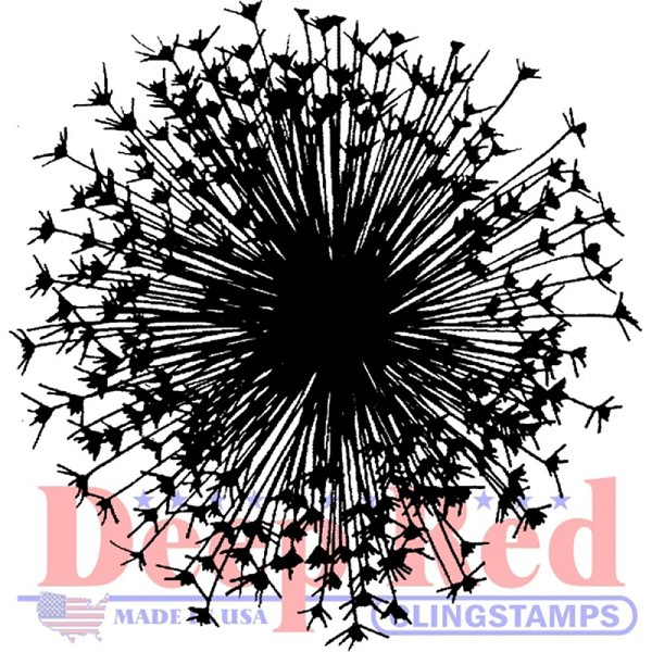 Deep Red - Cling Stamp - Dandelion - 3X405607