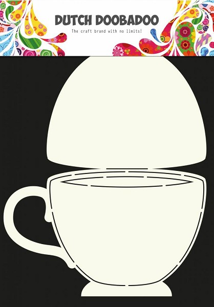 Dutch Doobadoo - Card Art - A4 - Teacup - 470.713.622