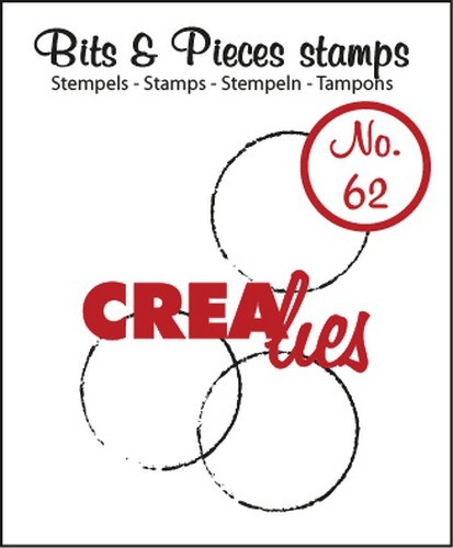 Crealies - Clearstamp - Bits & Pieces - No. 62 - Cirkels - CLBP62