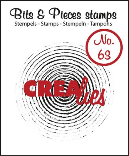 Crealies - Clearstamp - Bits & Pieces - No. 63 - Grunge circles in circles - CLBP63