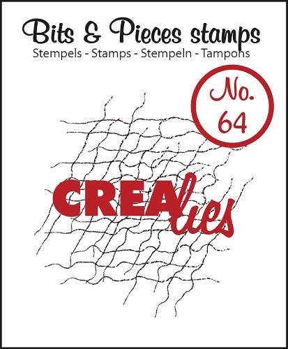 Crealies - Clearstamp - Bits & Pieces - No. 64 - Messy fibers - CLBP64