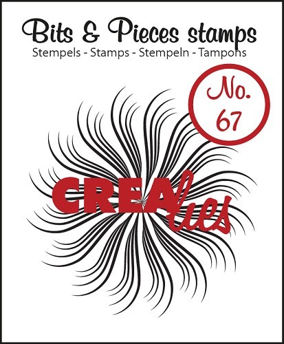 Crealies - Clearstamp - Bits & Pieces - No. 67 - Circle of swirls B - CLBP67