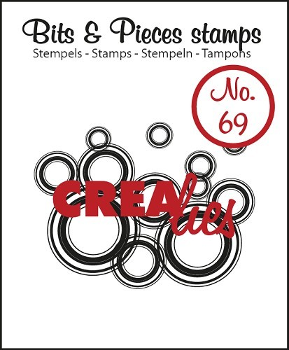 Crealies - Clearstamp - Bits & Pieces - No. 69 - Lots of circles - CLBP69