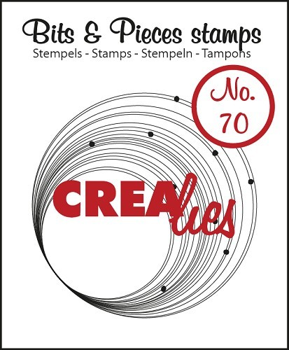 Crealies - Clearstamp - Bits & Pieces - No. 70 - Circles with dots - CLBP70