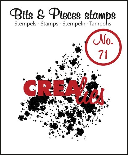 Crealies - Clearstamp - Bits & Pieces - No. 71 - Ink splashes bold - CLBP71