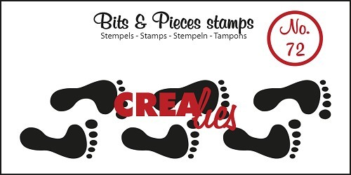 Crealies - Clearstamp - Bits & Pieces - No. 72 - Footprints - CLBP72