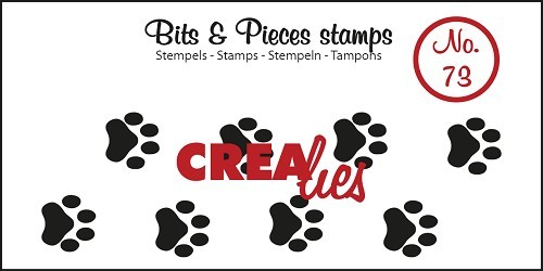 Crealies - Clearstamp - Bits & Pieces - No. 73 - Paws cat/dog - CLBP73