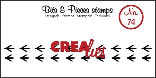 Crealies - Clearstamp - Bits & Pieces - No. 74 - Paws bird - CLBP74