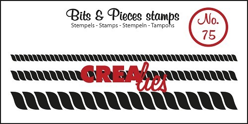 Crealies - Clearstamp - Bits & Pieces - No. 75 - Rope, 3 sizes - CLBP75