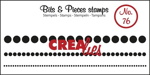 Crealies - Clearstamp - Bits & Pieces - No. 76 - Dots in a row, 3 sizes - CLBP76