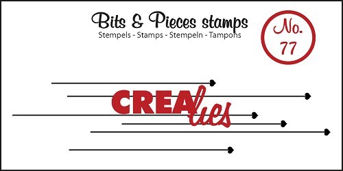 Crealies - Clearstamp - Bits & Pieces - No. 77 - Hanging hearts - CLBP77