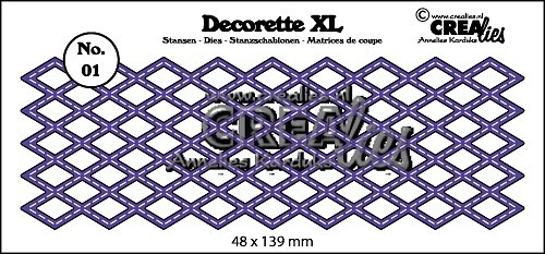 Crealies - Die - Decorette XL - No. 01 - Diamond with stitch