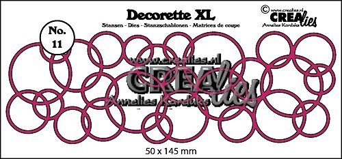Crealies - Die - Decorette XL - No. 11 - Interlocking circles