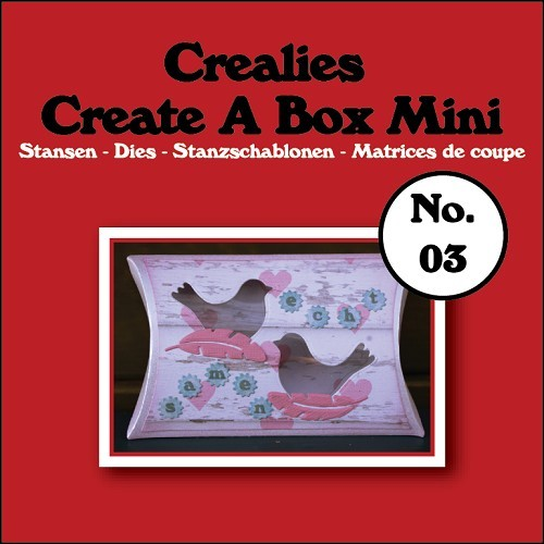 Crealies - Die - Create-A-Box - Mini - Pillowbox - CCABM03