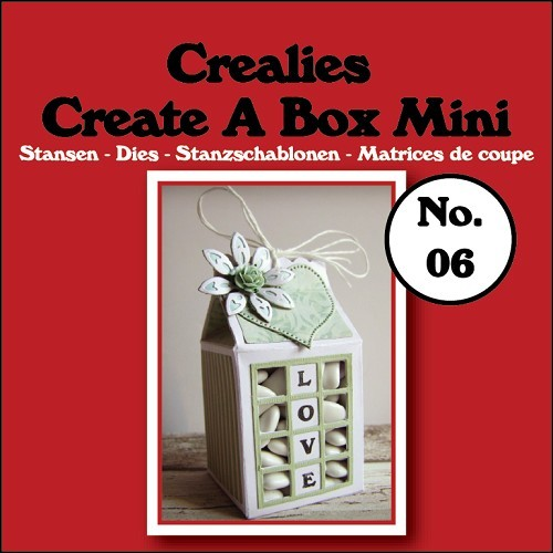 Crealies - Die - Create-A-Box - Mini - Melkpak - CCABM06