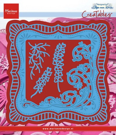Marianne Design - Die - CreaTables - Anja`s Frilly square - LR0470
