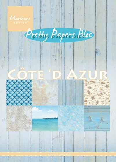 Marianne Design - Paperpack - Pretty Papers - Cote d`Azur - PK9146