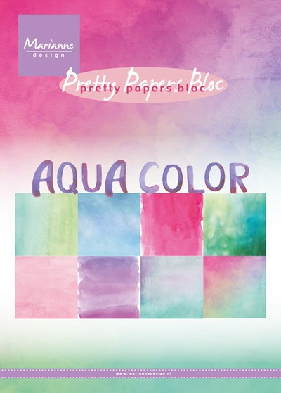 Marianne Design - Paperpack - Pretty Papers - Aqua color - PK9147