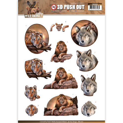 Amy Design - (3D-)stansvel A4 - Wild Animals - SB10160