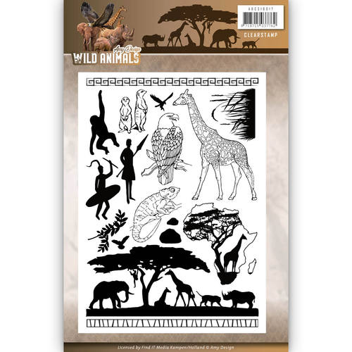 Amy Design - Clearstamp - Wild Animals - ADCS10017