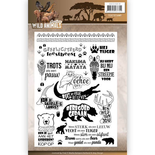 Amy Design - Clearstamp - Wild Animals - Tekst - ADCS10016