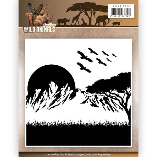 Amy Design - Embossingfolder - Wild Animals - ADEMB10006